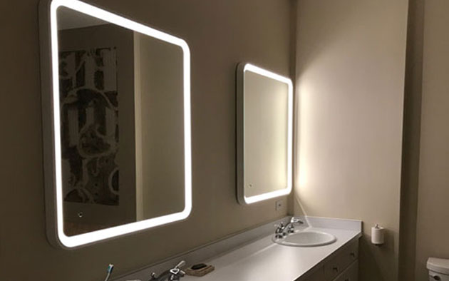 lighting backlit mirrors and other projects aamsco lighting
